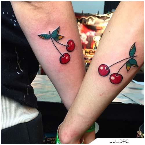 tattoo ciliegie coppia