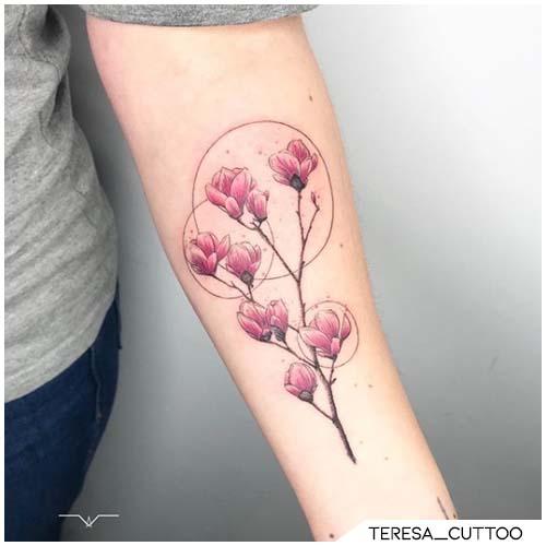 tattoo ciliegie fiori