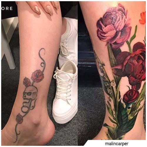 rosas pintadas