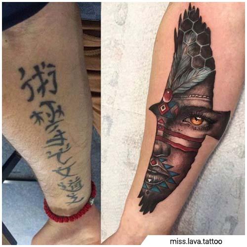Manta japonesa escrita