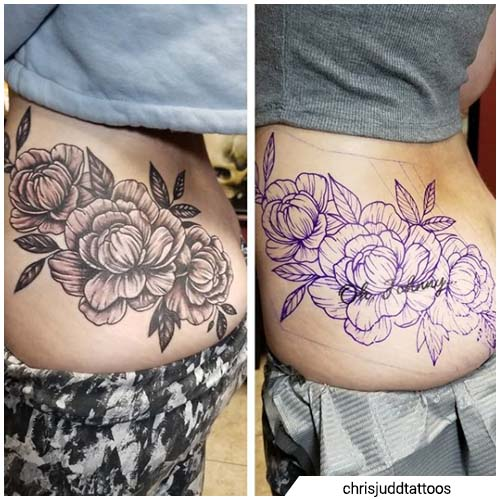 cover up peonie fondoschiena