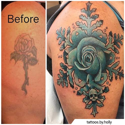 cover up tattoo rosa