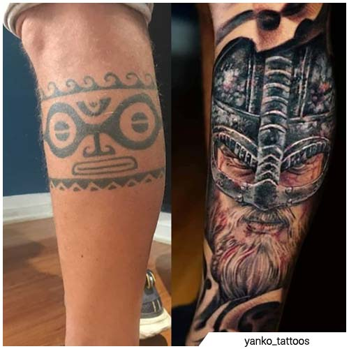 ex maorí cover up tattoo