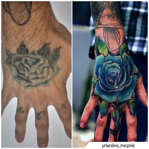 cover up rosa mano