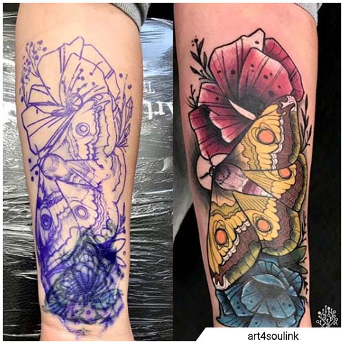 nueva escuela cover up tattoo