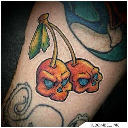 skull ciliegie arancioni