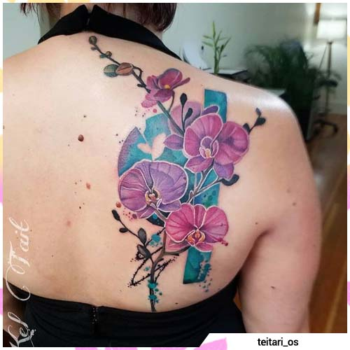 tatuaje de orquídea