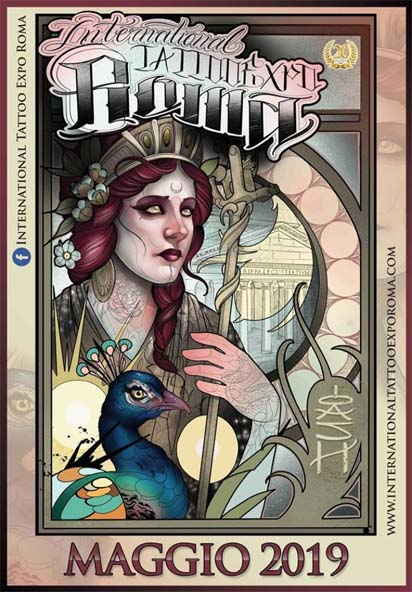 Locandina ufficiale International Tattoo Expo Roma 2019