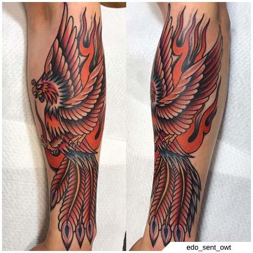 Ave Fenix Tatuaje ternero