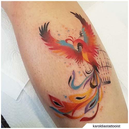 tattoo fenice artistico
