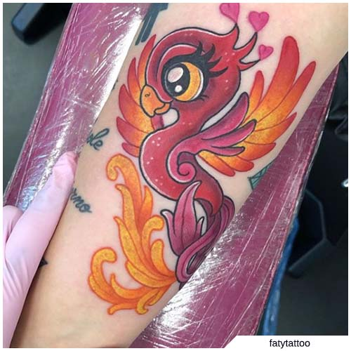 tattoo fenice kawaii