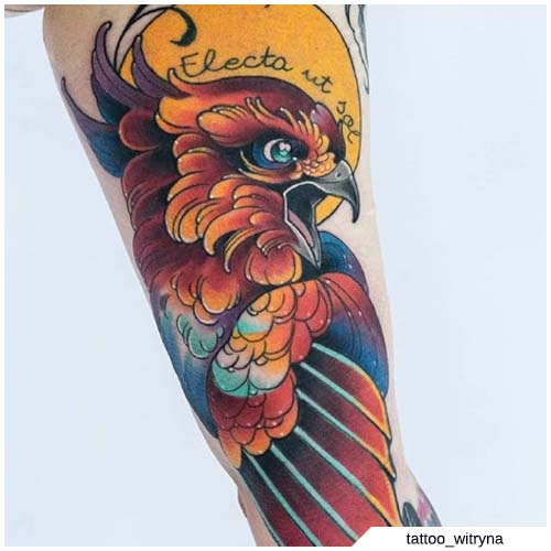 tattoo fenice neo traditional