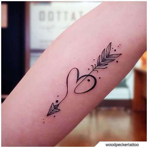 Significato tatuaggio freccia varianti e tante for Minimal significato