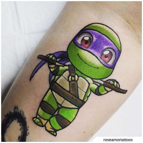 tatuaje de tortuga ninja