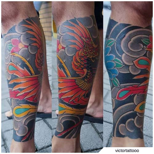 tattoo fenice giapponese