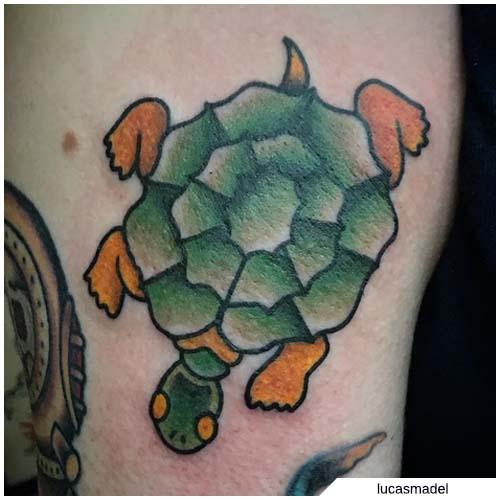 tatuaje de la vieja escuela marinero jerry tortuga