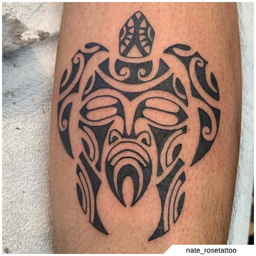 tatuaje tribal de tortuga