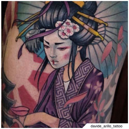 tatuaje de escuela de geisha