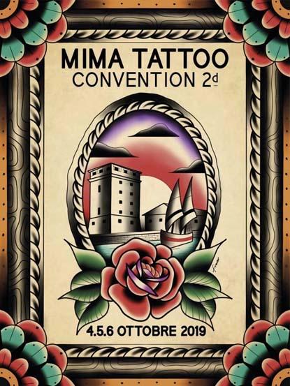Locandina ufficiale Mima Tattoo Convention 2019