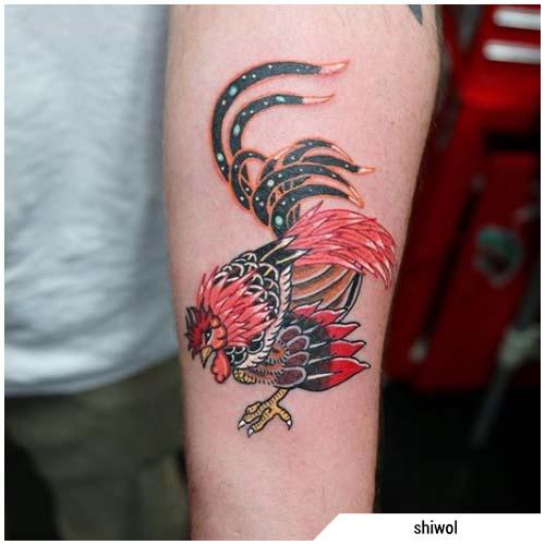 tatuaggio gallo cinese