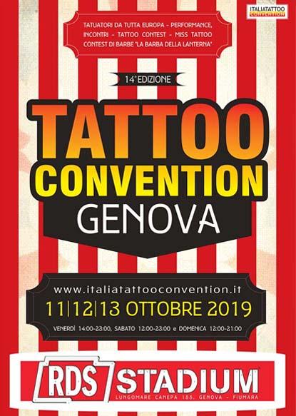 Locandina ufficiale Genova Tattoo Convention 2019