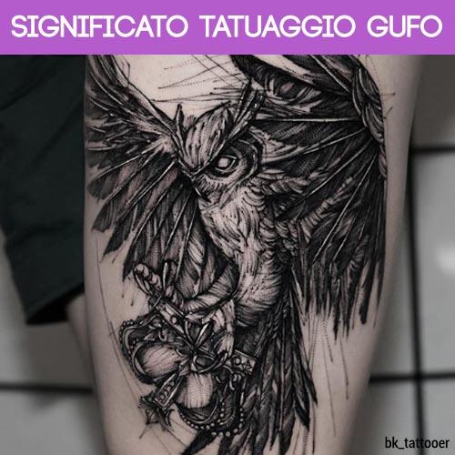 significato tatuaggio gufo
