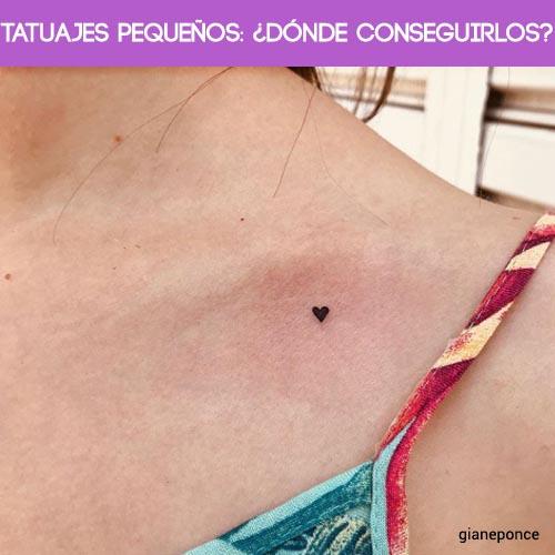 Tatuajes pequeños ¿dónde conseguirlos?