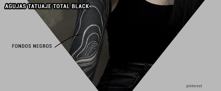 agujas tatuaje total black
