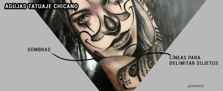 agujas tatuaje chicano