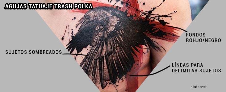 Agujas Tatuaje trash polka