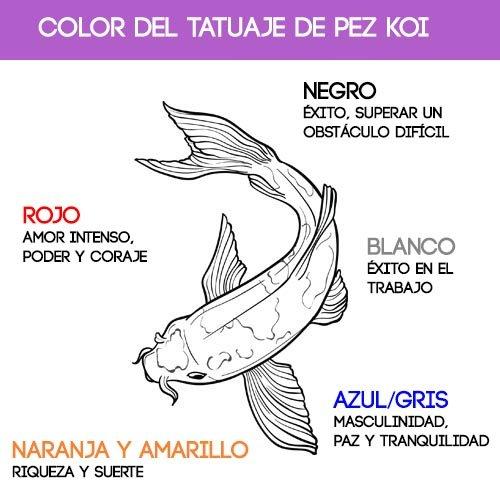 color del tatuaje de pez koi