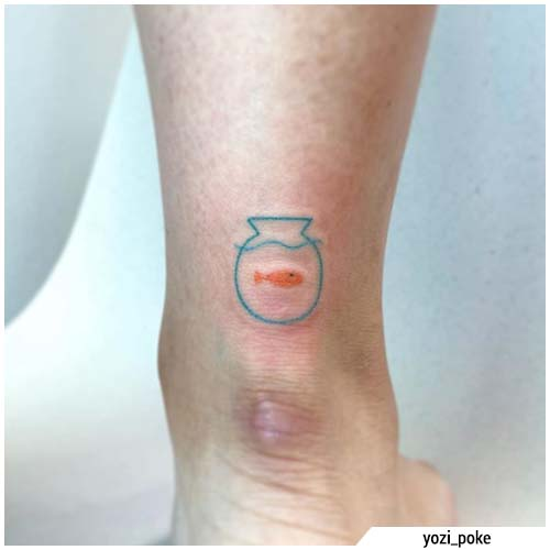 pequeños tatuajes de acuario