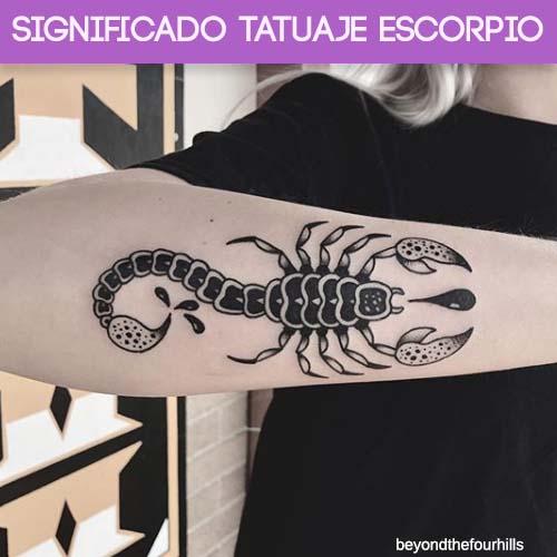 Significado Tatuaje Escorpio