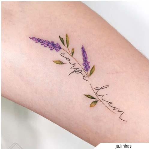 tatuaggi donna carpe diem