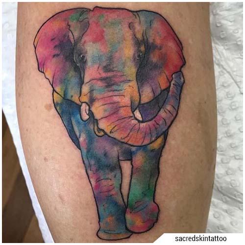 tatuaggi donna elefante