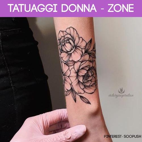 zone più gettonate tatuaggi donna