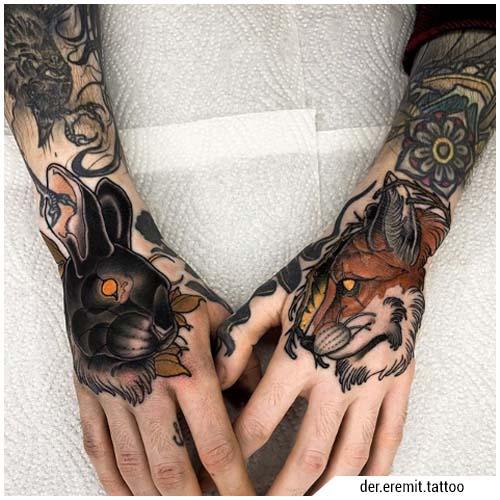 tatuaggi uomo mani