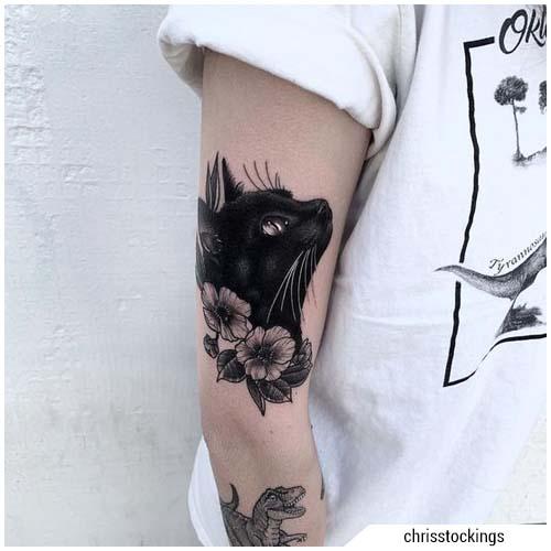 tatuajes mujer gato