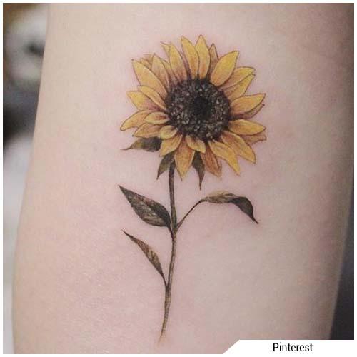 tatuajes de mujer girasol