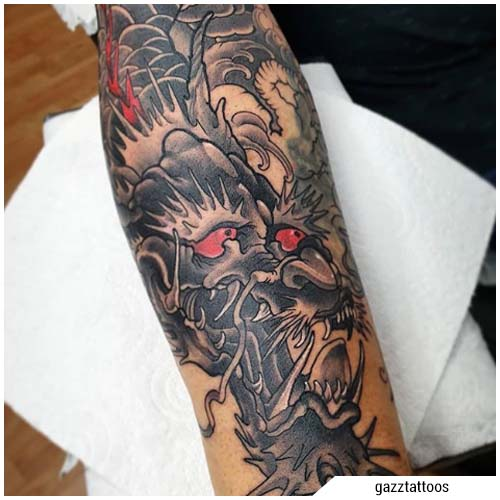 tatuajes de dragon man