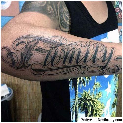 tatuaggi uomo famiglia