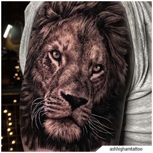 tatuaggi uomo leone