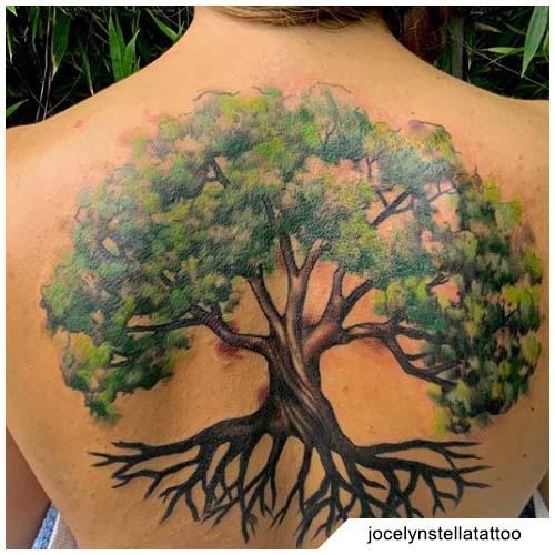 tatuaggio albero della vita grande schiena