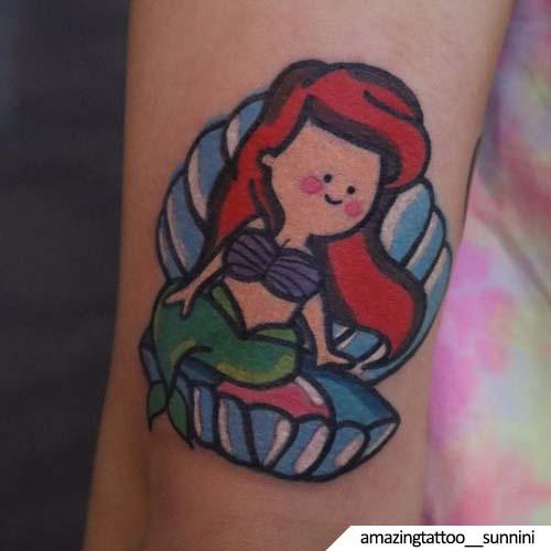 tatuaggio sirena kawaii